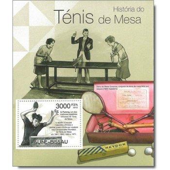 Tischtennis - Briefmarken-Block postfrisch, Guinea-Bissau