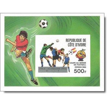 Gewinner der Fußball-Weltmeisterschaft 1982, Spanien - Briefmarken-Block ungezähnt postfrisch, Katal