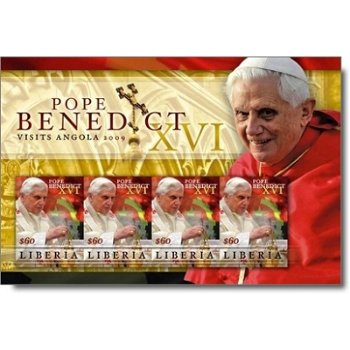Papst Benedikt XVI. besucht Angola - Briefmarken-Block postfrisch, Liberia