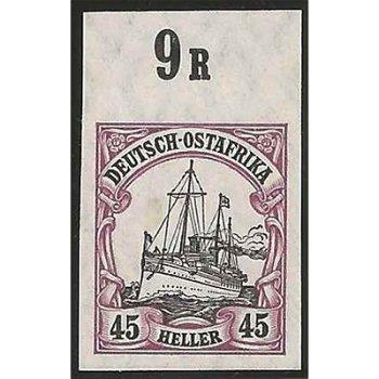 Deutsche Kolonien Deutsch-Ostafrika - ungezähnte Abart postfrisch, Katalog-Nr. 36U