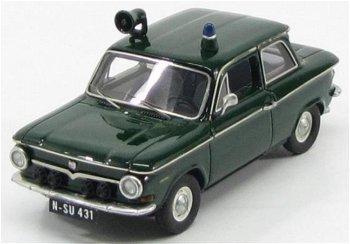 Modellauto:NSU Prinz 4 von 1964- Polizei Streifenwagen -(Kess, 1:43)