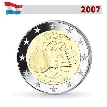 2 Euro Münze 2007, 50 Jahre Römische Verträge, Luxemburg