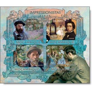 Claude Monet - Briefmarken-Block postfrisch, Katalog-Nr. 6374 - 6377, Mocambique