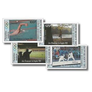 Olympische Sommerspiele 1984, Los Angeles - 4 Briefmarken ungezähnt postfrisch, Katalog-Nr. 812B-815