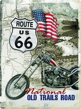 Blechschild:Route 66 - Old Trails Road -(Nostalgic Art, 30 x 40 cm)