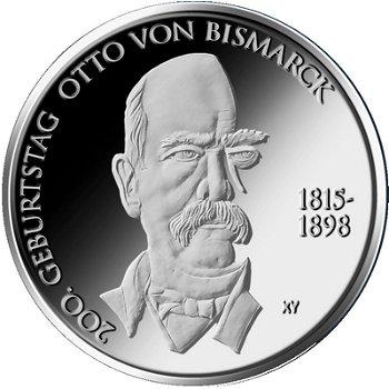Otto von Bismarck, 10-Euro-Gedenkmünze 2015, Stempelglanz