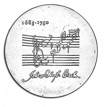 225. Todestag Johann Sebastian Bach, 20 Mark Münze 1975, DDR