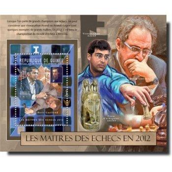 Schachspieler – Briefmarken-Block postfrisch, Katalog-Nr. 9319, Block 2118 II, Guinea