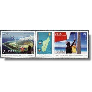 Fallschirmtruppen der Marine - 2 zusammenhängend gedruckte Briefmarken postfrisch, TAAF