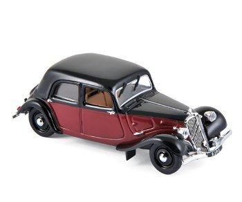 Modellauto:Citroen 11 Légère Coupé de Ville von 1935, schwarz-rot(Norev, 1:43)