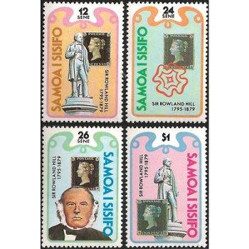 100. Todestag von Rowland Hill – vier Briefmarken postfrisch, Katalog-Nr. 415-418, Samoa