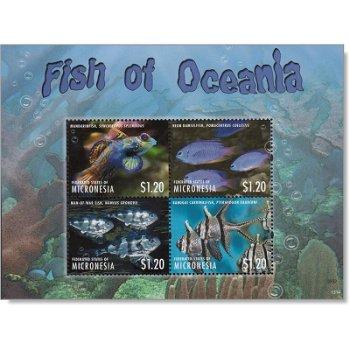 Fische des Ozeans - Briefmarken-Block postfrisch, Micronesien