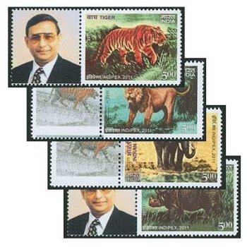 Internationale Briefmarkenausstellung INDIPEX 2011, Neu-Delhi: Säugetiere - Briefmarken postfrisch,