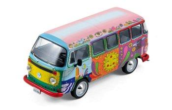 Modellauto:VW T2 Bus - Hippie Car - von 1976(Premium X, 1:43)