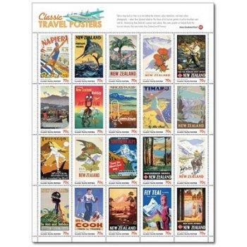 Klassische Reiseplakate - Kleinbogen postfrisch, Neuseeland