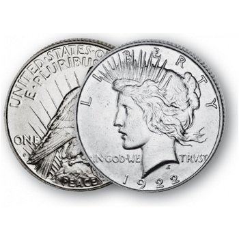 Peace-Dollar - Silberdollar 1921-1935, 1 Dollar Silbermünze, USA