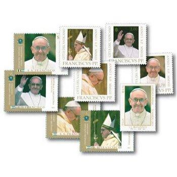 Papst Franziskus - 9 Briefmarken postfrisch, Italien/Vatikan/Argentinien