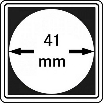 Münzkapseln CARRÉE 41 mm, 4er Pack, LI 2240041