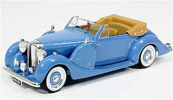 Modellauto:Lagonda LG 6 Drophead Coupé von 1938, blau(IXO Museum, 1:43)