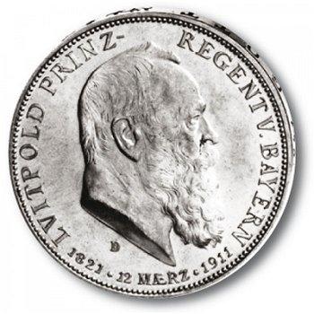 5 Mark Silbermünze, König Luitpold, Katalog-Nr. 50, Königreich Bayern