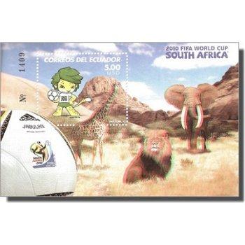 Fußball-Weltmeisterschaft 2010, Südafrika - 3D Briefmarken-Block postfrisch, Ecuador