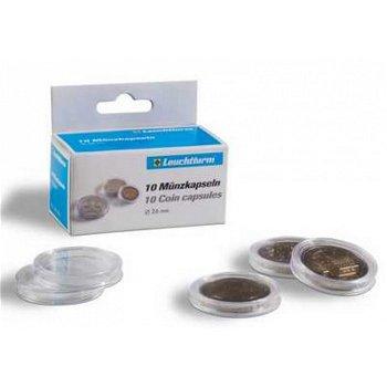 Münzkapseln CAPS mit Griffrand, 33 mm, 10er Pack für Euro-Münzen, Leuchtturm 320931