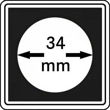 Münzkapseln CARRÉE 34 mm, 4er Pack, LI 2240034