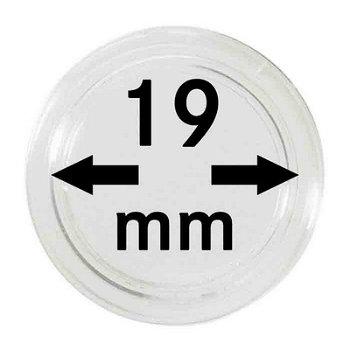 Münzkapseln,10er Pack für 2 €-Cent, Lindner 2250019P