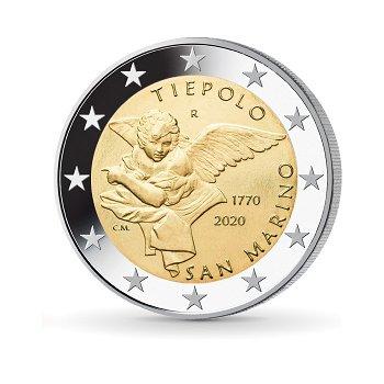 250. Todestag Giovanni Battista Tiepolo - 2 Euro Münze 2020, San Marino