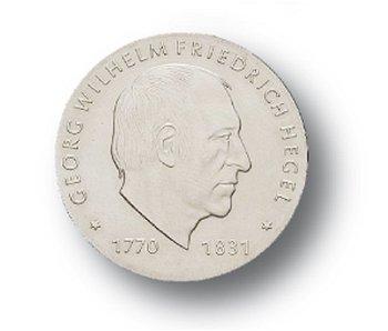 10-Mark-Münze 1981, 150. Todestag G.W. Friedrich Hegel, DDR