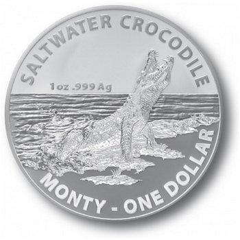 Monty, das Salzwasserkrokodil - Silbermünze, Australien