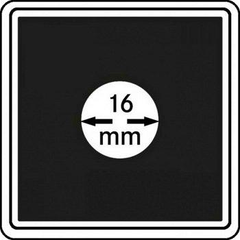 Münzkapseln CARRÉE 16 mm, 4er Pack, LI 2240016