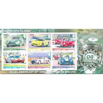 Historische Rennautos - Briefmarken-Block postfrisch, Katalog-Nr. 1452-57 Bl. 64 Insel Man
