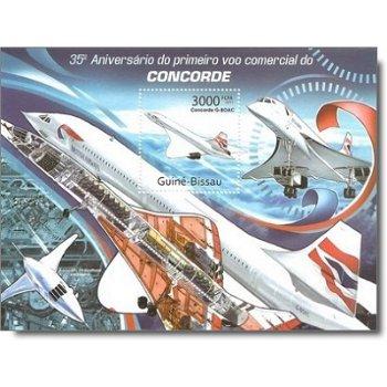 35 Jahre Concorde - Briefmarken-Block postfrisch, Guinea-Bissau