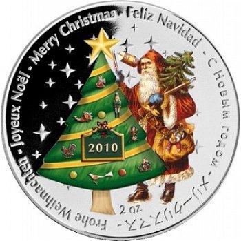 Frohe Weihnachten, 10 Dollar Silbermünze, Liberia