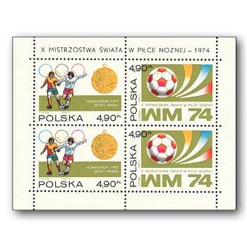 WM in Deutschland 1974 - Briefmarken-Block postfrisch, Block 59, Polen