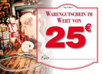 Warengutschein:Gutschein mit Weihnachtsmotiv