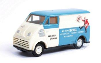 Modellauto:DKW 3=6 Kastenwagen - Autosattlerei -(Busch, 1:87)