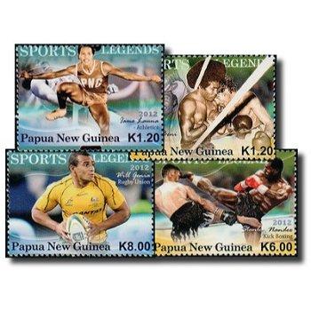 Legenden des Sports - 4 Briefmarken psotfrisch, Katalog-Nr. 1806-1809, Papua-Neuguinea