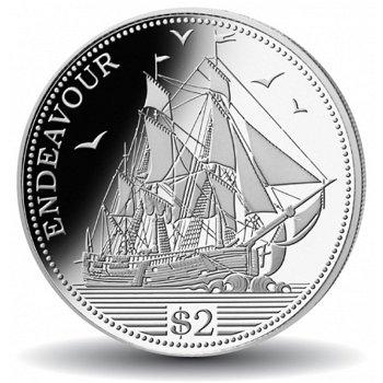 Geschichte der Seefahrt: Die Endeavour, Silbermünze, Cook Inseln