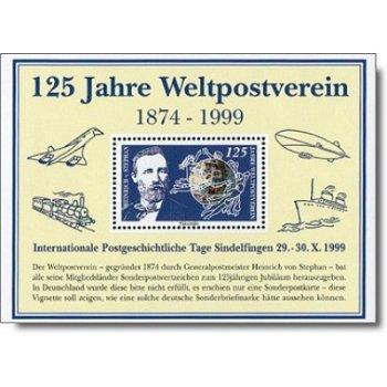 125 Jahre Weltpostverein - Faksimiledruck, Deutschland