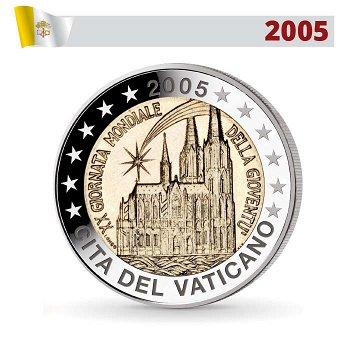 2 Euro Münze 2005, Weltjugendtag Köln, Vatikan