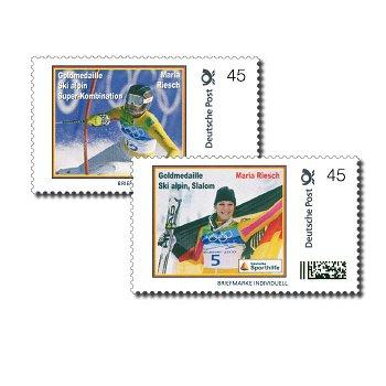 Maria Riesch - 2 Briefmarken postfrisch, Deutschland