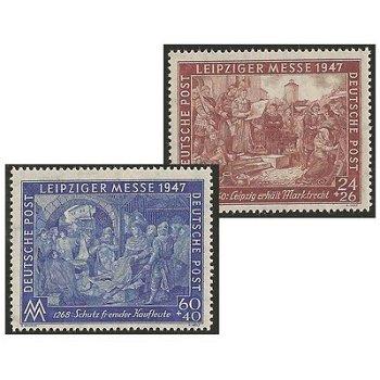 Leipziger Frühjahrsmesse - 2 Briefmarken postfrisch, Katalog-Nr. 941-42 II B, Alliierte Besetzung