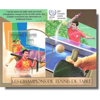 Tischtennisspieler – Briefmarken-Block postfrisch, Katalog-Nr. 9315, Block 2117 II, Guinea