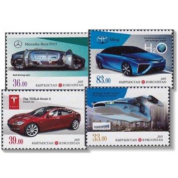 Moderne Autos - 4 Briefmarken postfrisch, Kirgisien