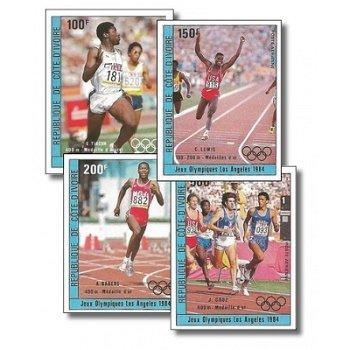 Sieger der Olympischen Sommerspielen 1984, Los Angeles - 4 Briefmarken ungezähnt postfrisch, Katalog