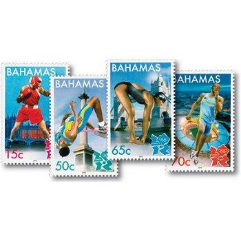 Olympische Spiele 2012 - 4 Briefmarken postfrisch, Bahamas