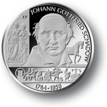 Johann Gottfried Schadow, 10-Euro-Gedenkmünze 2014, Polierte Platte