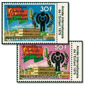 Internationales Jahr des Kindes - zwei Briefmarken mit Aufdruck, postfrisch, Katalog-Nr. 454-455, Ko